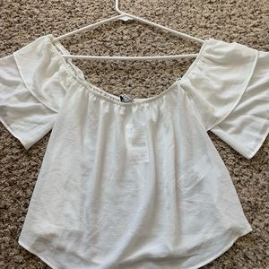 Pull and Bear white peasant top